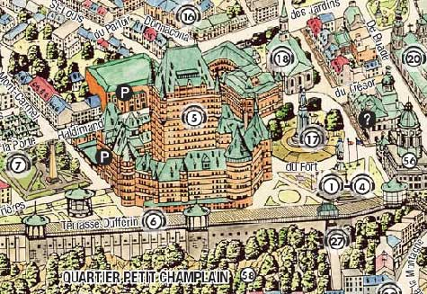 Old Québec Map | MP3 Walking Tour on
